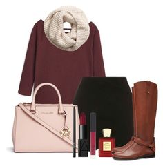 """""""Turkey day"""" by ndebaby ❤ liked on Polyvore featuring MANGO, Topshop, H&M, Michael Kors, Bella Bellissima, Tory Burch and NARS Cosmetics"""