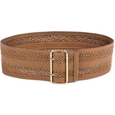 Linea Pelle Inset Braid Wide Waist Belt ($145) ❤ liked on Polyvore featuring accessories, belts, complementos, leather waist belt, linea pelle, leather belt, braided waist belt and wide woven belt