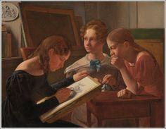 Constantin Hansen (1804–1880), Les Trois Soeurs de l'Artiste: Avilde, Ida, Henriette - 1827