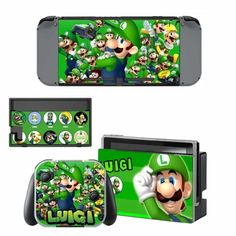 Luigi Nintendo switch Skin for Nintendo switch console. Choose your favorite design from a huge range of game skins collection for Nintendo Switch Console. New Nintendo Switch Games, Nintendo Switch Price, Mario Switch, Mario Wii, Nintendo Switch Animal Crossing, Super Mario And Luigi, Kirby Nintendo, Computer Video Games, Nintendo Switch Accessories