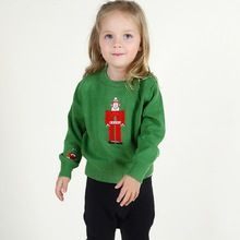 China Baby Boys Girls Clothes Fashion Brand Embroidery Father Christmas Sweater Bobo Style Children Clothing 2016 Kids Clothes(China (Mainland))