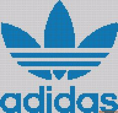 Diy Crafts - -Alpha friendship bracelet pattern 10078 added by adidas shoes logo store. Small Cross Stitch, Cross Stitch Designs, Cross Stitch Charts, Cross Stitch Patterns, Knitting Charts, Baby Knitting, Knitting Patterns, Crochet Patterns, Modele Pixel Art