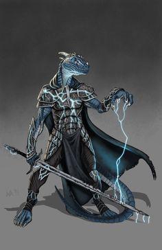 Dragonborn Cleric by lordsenneian #dragonborn #draconico #dragonide