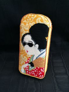 Gusseted sunglass case ~ Canvas design by Kirk&Bradley