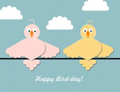 Bird-day card