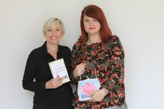 Author Carole Matthews and handbag designer Helen Rochfort