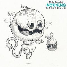 Burger Bug! 🍔🐝 #morningscribbles