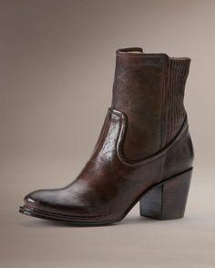 Women's Lucinda Scrunch Short Boot - Dark Brown