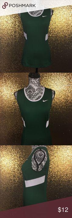 Nike Tank Top Women's Small Green Dri-fit Athletic Nike Tank Top Women's Size Small Dark Green White Shirt Dri-fit Athletic Top Nike Tops Tank Tops