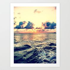 Beach Art Print by Amneh Al-Sholi - $12.48