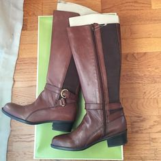 661ca8567067 Naturalizer Array Leather Knee High Riding Boots New in box. Knee high  brown leather boots