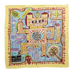 Grayson Perry Map silk scarf (British Museum exclusive) at British Museum shop online Textile Prints, Japanese Prints, Pretty Prints, Artist, Silk Printing, Print Patterns, Visual Art, Sky Art, Prints