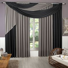 wayfair up thermal you and valance ll blackout solid love single curtain window treatments drapes sets grommet panel