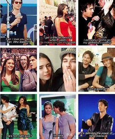 Ian Somerhalder and Nina Dobrev Serie The Vampire Diaries, Damon Salvatore Vampire Diaries, Ian Somerhalder Vampire Diaries, Vampire Diaries Quotes, Vampire Diaries The Originals, Nina Dobrev, Ian E Nina, Daimon Salvatore, Vampier Diaries