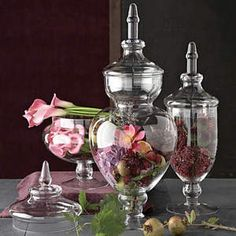 floral apothecary jars