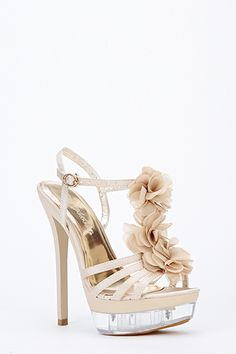 Sweet Floral Strappy Heels