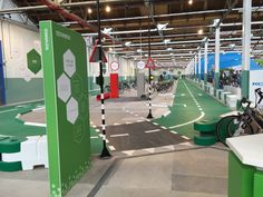 Experience center De Fietser, indoor test court, Accell Nederland, brand experience - by DST