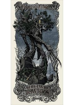 Alternative movie poster for The Lord of the Rings: The Two Towers by Aaron Horkey