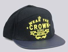 34282170470ba7 Wear The Crown Snapback Cap by KING APPAREL