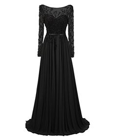 Dresstells® A Line Chiffon Long Sleeve Prom Dress with Appliques Wedding Dress Evening Party Dress Dresstells http://www.amazon.co.uk/dp/B017X498F8/ref=cm_sw_r_pi_dp_kPoGwb1DQH9FZ