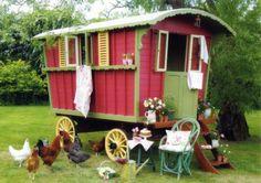 Decorating The Inside Of A Gypsy Vardo | chickens # garden # shabby chic # vintage