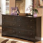 LOVE this mirror - favorite - winner - Sherman 6 Drawer Dresser