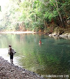 Belize . Stopped here to swim during a horseback ride.