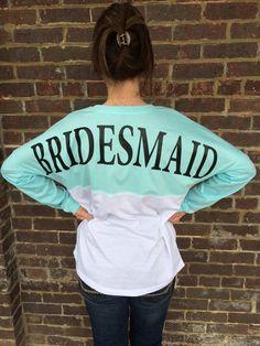 Monogram spirit style pom pom Jersey, Custom Wedding shirts, personalized shirt jersey, Bridal Party shirt, Bridesmaid jersey, Bride custom  by CloverDepot on Etsy https://www.etsy.com/listing/219581172/monogram-spirit-style-pom-pom-jersey