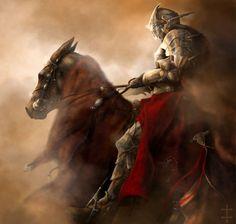 Knight On Horse | Knight - abstract, knight, warrior, fantasy, horse