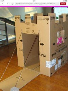 Castillo de carton, ideal para las pequeñas princesas de la casa ;) ademas reutilizamos esa caja que estorba.... queda genial para todas las que tienen niñas pequeñas ♡les va a encantar yo ya lo hize