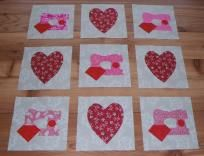 NO SLICE FEE 9 Pink Sewing Machine Quilt Blocks