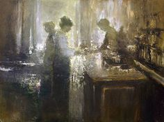 dan mccaw  'paris cafe'  18x24