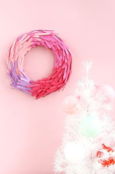 DIY Paper Wreath