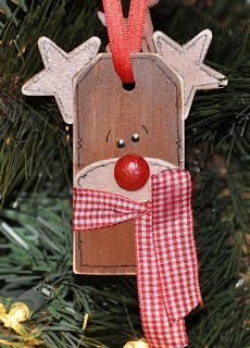 DIY Rudolph Gift Tag or ornament
