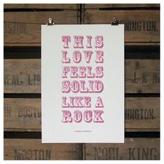 solid like a rock unframed recycled paper print | wood and willow