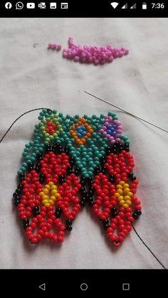 Collar Redondo, Cross Stitch Rose, Beaded Jewelry Patterns, Diy Jewelry, Beading, Crochet Earrings, Embroidery, Bracelets, Inspiration