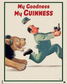 Framed Guinness Beer My Goodness My Guinness by Gilroy Advertising Art Print Poster Irish Stout Brew Vintage Advertising Posters, Print Advertising, Vintage Advertisements, Vintage Posters, Retro Posters, Art Posters, Travel Posters, Guinness Cupcakes, Guinness Cake