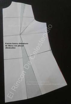 Patrón básico de blusa con pinzas eliminadas para cortar blusas de moda Dress Sewing Patterns, Photo Tips, Sewing Clothes, Dressmaking, Dress Outfits, Sewing Projects, Lily, Cards Against Humanity, Couture