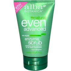 Alba Botanica: Natural Even Advanced Sea Algae Enzyme Scrub, 4 oz pack). Brought to you by Alba Botanica. Total of 3 packs. Aloe Vera, Cell Regeneration, Benzoic Acid, Star Wars, Vitis Vinifera, Exfoliating Scrub, Benzyl Alcohol, Facial Scrubs, Skin Brightening