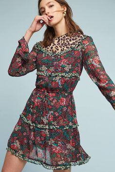 b8d0ca106d6 Play with your prints in this eclectic animal and floral-printed dress. -  Total Street Style Looks And Fashion Outfit Ideas