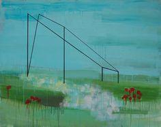 "Saatchi Art Artist Jan Valer; Painting, ""construction of the landscape"" #art"