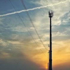 日が長くなっていい日和でした  棒っとしたくなる季節(#_#) #sunset #sky #cloud #miniphotowalk #photowalk #photowalking #iphoneonly #iphonegraphy #iphoneography #iosphotography #fbp