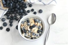 These blueberry-almond instant (or overnight!) oats are the perfect summer breakfast! Loaded with keep-you-full fiber and protein, they're incredibly nutritious, decadently delicious!