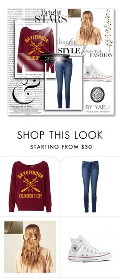 """Harry Potter"" by kaddie15 ❤ liked on Polyvore featuring Oris, Paige Denim, Hershesons, Converse and Pier 1 Imports"