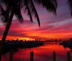 Sunset over Miami Beach, FL #bbsummerofsparkle #BBSummerOfSparkle