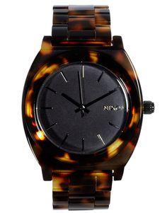Nixon tortoiseshell acetate watch
