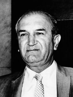 Joe Bonanno (Born was a Sicilian-born American mafioso who became the boss of the Bonanno crime family. He was one of the original members of 'The Commision' and remained at the head of his family for over thirty years. Italian Gangster, Real Gangster, Mafia Gangster, Joseph Bonanno, Famous Serial Killers, Mafia Crime, Mafia Families, Al Capone, Thug Life