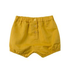 Yellow Linen Shorts | Happyology Coast Collection SS16