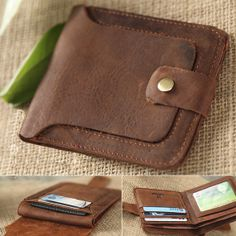 Cartera hecha a mano genuino cuero hombre / billetera de cuero / billetera para hombres / minimalista cartera / cartera de negocios / mens--T052