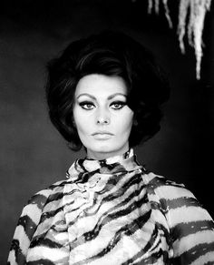 Sophia Loren by Richard Avedon, wearing Dior - remember the bathroom scene of Arabesque (1966) with Gregory Peck?